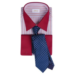 Brioni French Cuff, Red with Italo Feretti Tie