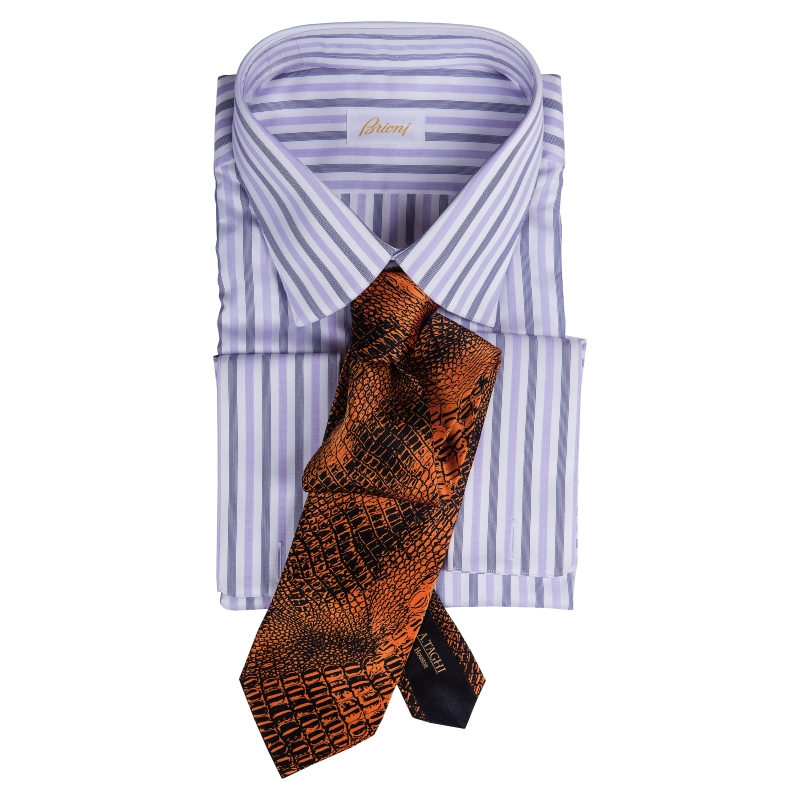 Brioni French Cuff with Italo Feretti Tie