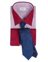 Brioni French Cuff, Red with Italo Feretti Tie