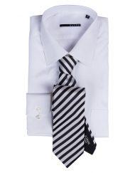 Xacus Reg Cuff, WHT  with Italo Feretti Tie